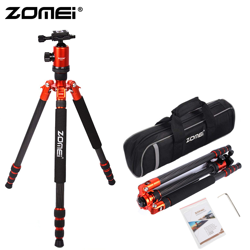 ZOMEI Z888C Camera Tripod & Monopod Carbon Fiber Travel Tripod With 360 Degree Ball Head And Bag For SLR DSLR Digital Camera