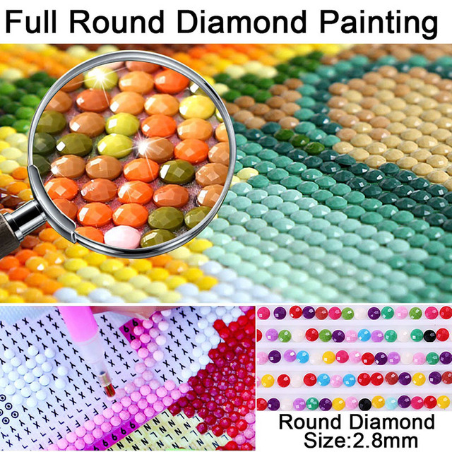 Купить diy horse 5d diamond painting full round drill animal embroidery картинки цена