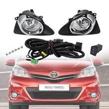 2 pezzi fendinebbia paraurti anteriore auto con interruttore di cablaggio copertura della luce fendinebbia gruppo lampadine LED H11 per Toyota Yaris 12-14