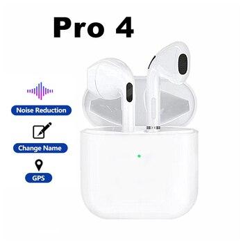 Mini Pro 4 TWS-auriculares inalámbricos con Bluetooth, dispositivo de audio estéreo Hi-Fi, manos libres para teléfono inteligente