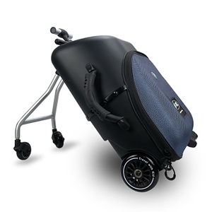 Image 2 - New design lazy baby sit on scooter luggage kids carry on travel suitcase bag boarding skateboard creative trolley case