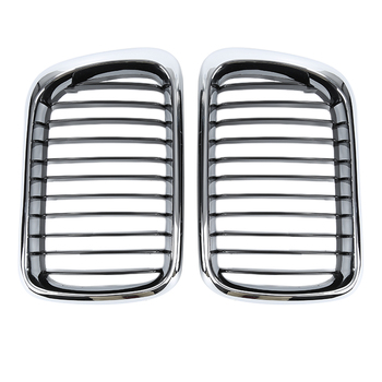A Pair High Quality Durable Front Black Wide Kidney Grille Grill For Car BMW E36 3 Series 97-99 Car styling Car Accessories image