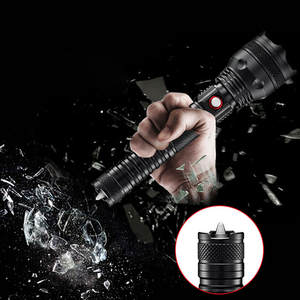 Powerful XHP50 Flashlight LED USB Rechargeable Torch With Battery IPX5 Zoomable Led Flash Light Outdoors Sports Hard Light