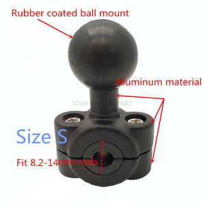 Image 4 - Jadkinsta Motorcycle Handlebar Brake Clutch Control Base Combo U Bolt Mount with 1 inch Rubber Ball Mount for Gopro Cam