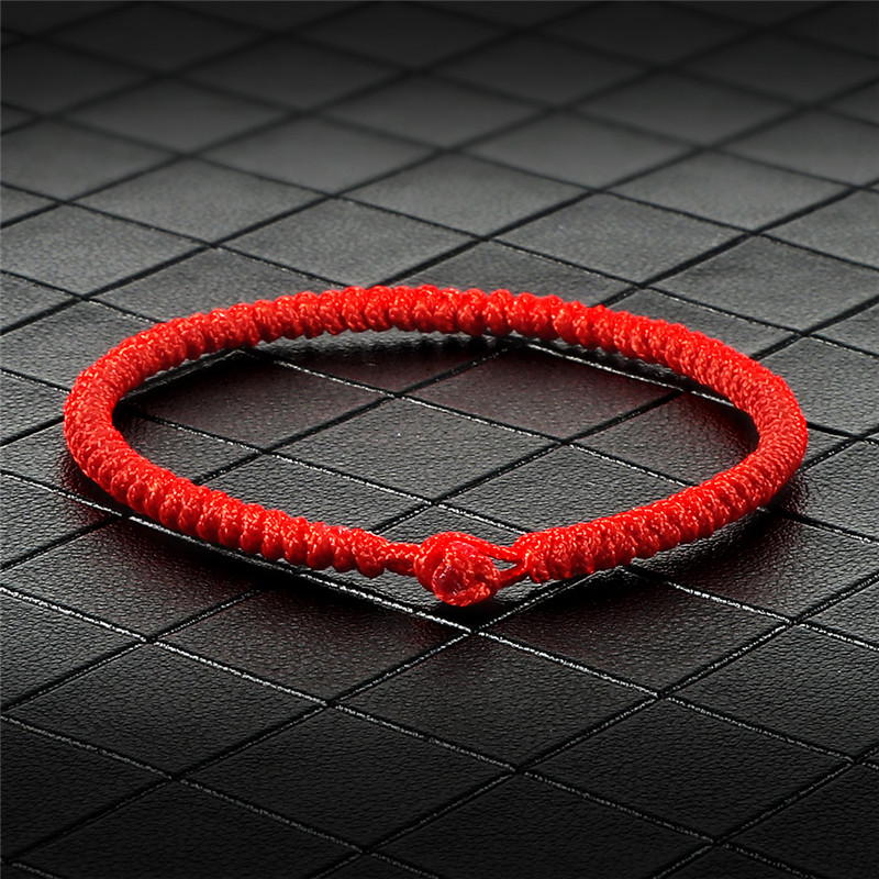 Lucky Red Thread Rope Amulet Woven Bracelets Friendship Bracelet Anklet Good Lucky Charm Handmade Buddha Jewelry For Women Men