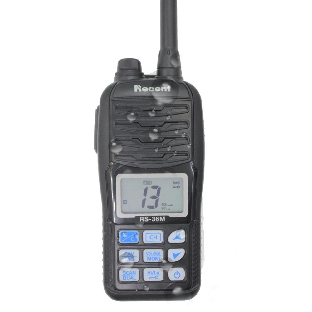 WaterproofRecent RS-36M  VHF  Marine Radio 156.000-161.450MHz IP67 Waterproof Handheld Float Radio Stadion 5W  Walkie Talkie
