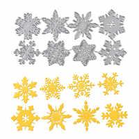 DiyArts 8pc Schneeflocke Schneiden Stirbt Weihnachten Metall Schneiden Stirbt Schablonen Gestanzte für DIY Scrapbooking Album Papier Karte Präge