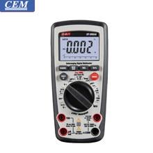 Cem multímetro digital profissional DT-9960H/ DT-9965H industrial medidor universal true rms backlight alta precisão ncv