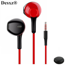 D3 earphone Wired headset with noise cancellation and microphone comfortable stereo  for xiaomi iPhone sony