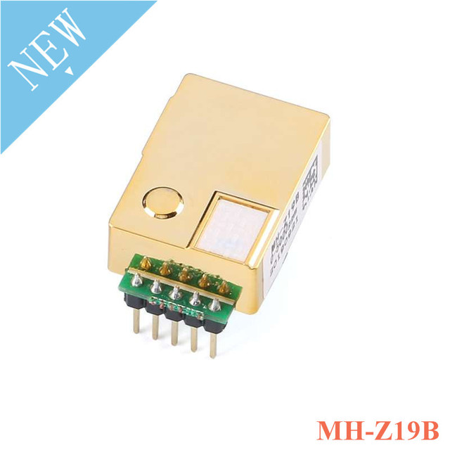 MH Z19 MH Z19B الأشعة تحت الحمراء CO2 استشعار وحدة استشعار الغاز ثاني أكسيد الكربون ل CO2 رصد 0 5000ppm MH Z19B NDIR مع دبوس