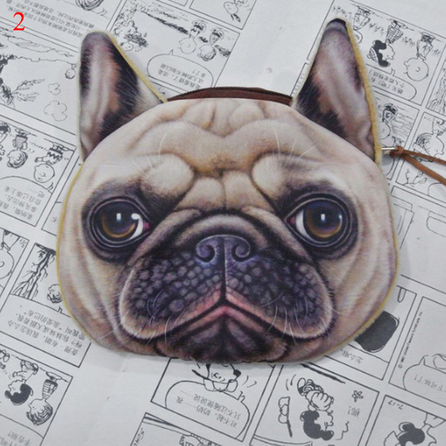 Beige Change pouch Animals coin purse Polka dots purse Funny dogs purse Dog Lovers Gift Purse with Dogs Kawaii Japanese cloth wallet