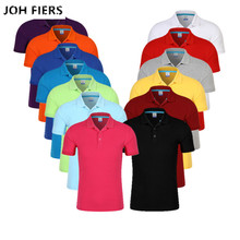 JOH FIERS Mens Polo Shirt 2019 New Summer Short Sleeve Turn-over Collar Slim Tops Casual Breathable Solid Color Business