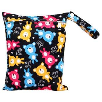 20*25cm Mini Diaper Wet Bag Single Pocket Zipper Baby Bags For Mom Maternity Travel Stroller Bag PUL Nappy Diaper Bag Wetbag - AS-MB-10