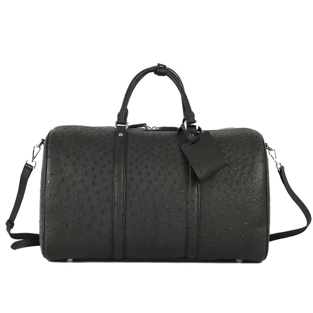100% натуральная кожа страуса Дорожная сумка супер вместительная сумка для багажа все дорожные сумки из натуральной кожи страуса дорожные су