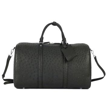 100% Genuine Ostrich Leather Travel Duffle Bag Super Capacity Luggage Hold All Bags Real Skin Handbags - discount item  20% OFF Travel Bags