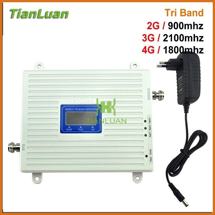 Three Net 2g 3g 4g 900mhz 1800mhz 2100mhz Network Signal Booster