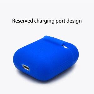 Image 5 - ソフトシリコンケースアップルの airpods ケース bluetooth ワイヤレスイヤホン保護カバーボックス用ポッド耳ポッドバッグ