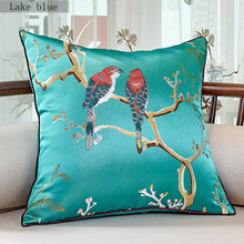 Chinese embroidered decorative cushions flower cushion cover sofa cover pillow