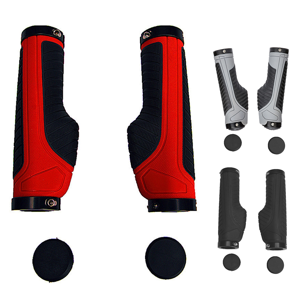 Bike Handlebar Grips, Mountain Bike Grips, Ergonomic Design, Aluminum Double Lock-on, MTB BMX Downhill Foldable Urban Bicycles