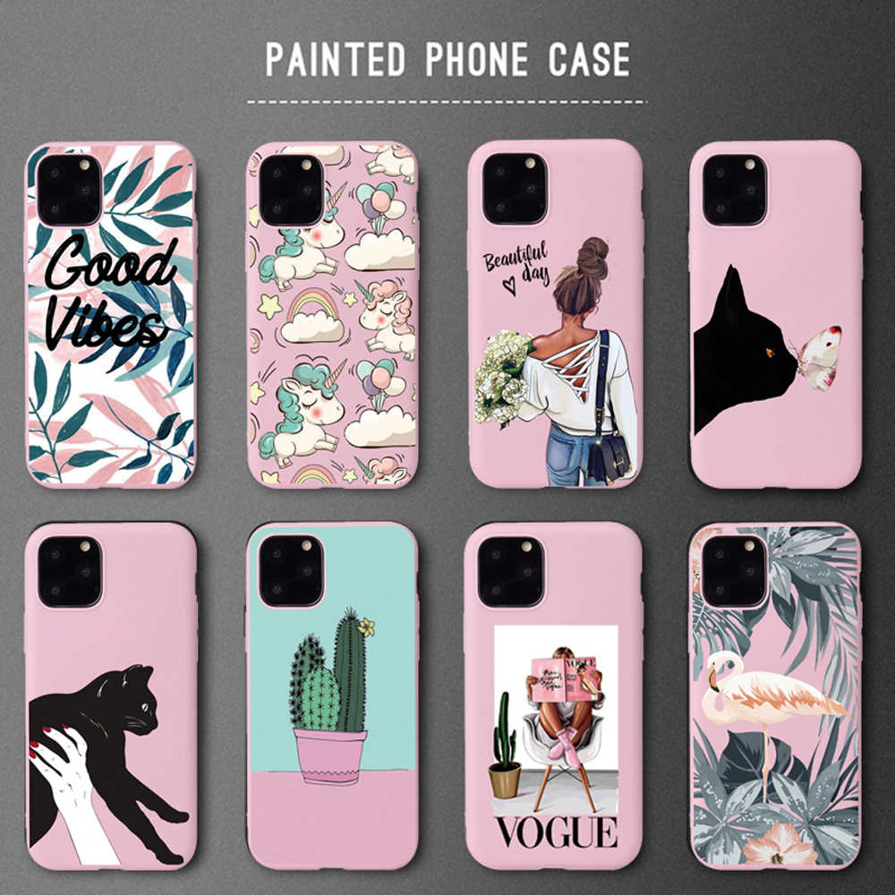 Telefoon Case Voor Iphone X 6 6S 7 8 Plus Se 2020 Pretty Girl Soft Silicon Cover Voor Iphone xs 11Pro Max Xr Case Capa Nieuwe Jaar Cadeau
