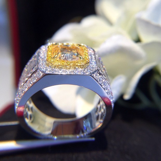 Natural Diamond 18K Gold Pure Gold Ring Beautiful Gemstone Ring Good Upscale Trendy Classic Party Fine Jewelry Hot Sell New 2020
