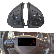 black Car  styling buttons FOR M itsubishi ASX Lancer Multi function Car steering wheel control buttons Free shipping