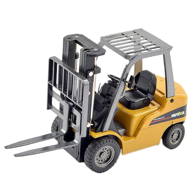 HUINA 1717 1:50 Alloy Forklift Static Model Children's Toys