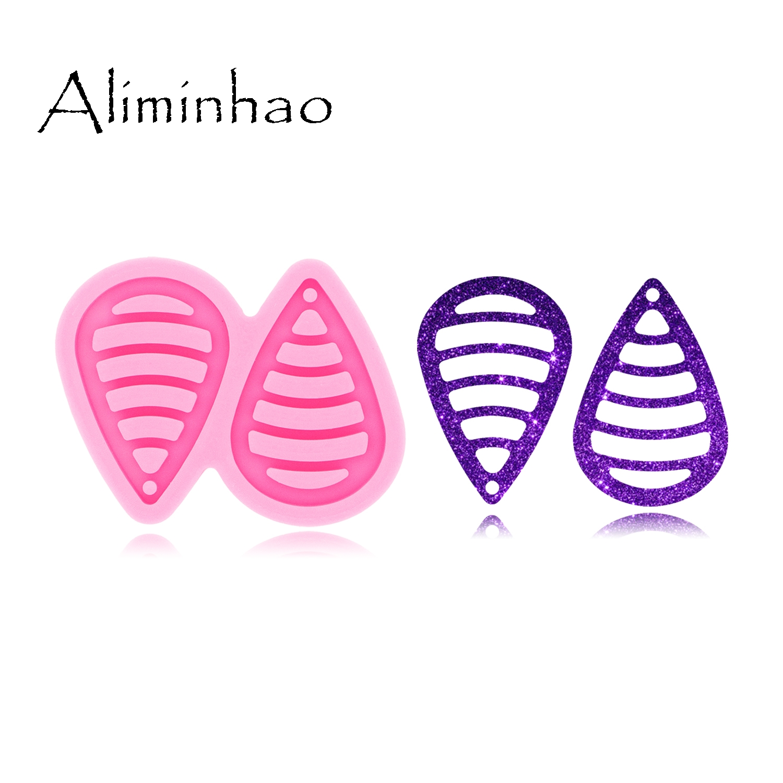 DY0496 L/M/S Hollow Tassel Tear Drop Hoop Earrings DIY Epoxy Silicone Molds Fashion Jewelry  Resin Craft Mould