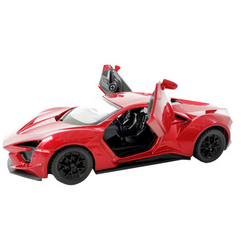 Lykan Hyperspor Led Flash 1:36 Car Alloy Sports Car Model Diecast Sound Super Racing Lifting Tail Hot Car Wheel For Children image