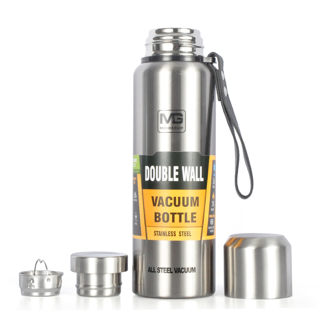 500/750/1000/1500ml Russian Outdoor Thermos Bottle Portable Large Capacity Insulated Cup Military Style Vacuum Flask 3