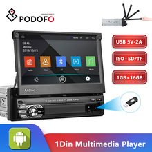 Navigation-Player Radio-Wifi Mp5 1din Podofo Bluetooth Universa Car GPS No-Dvd Quad-Core