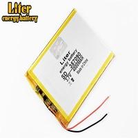 387090 357090 337090 3.7v 4000mah bateria de polímero de lítio da bateria de energia do litro com placa para o pc u25gt da tabuleta