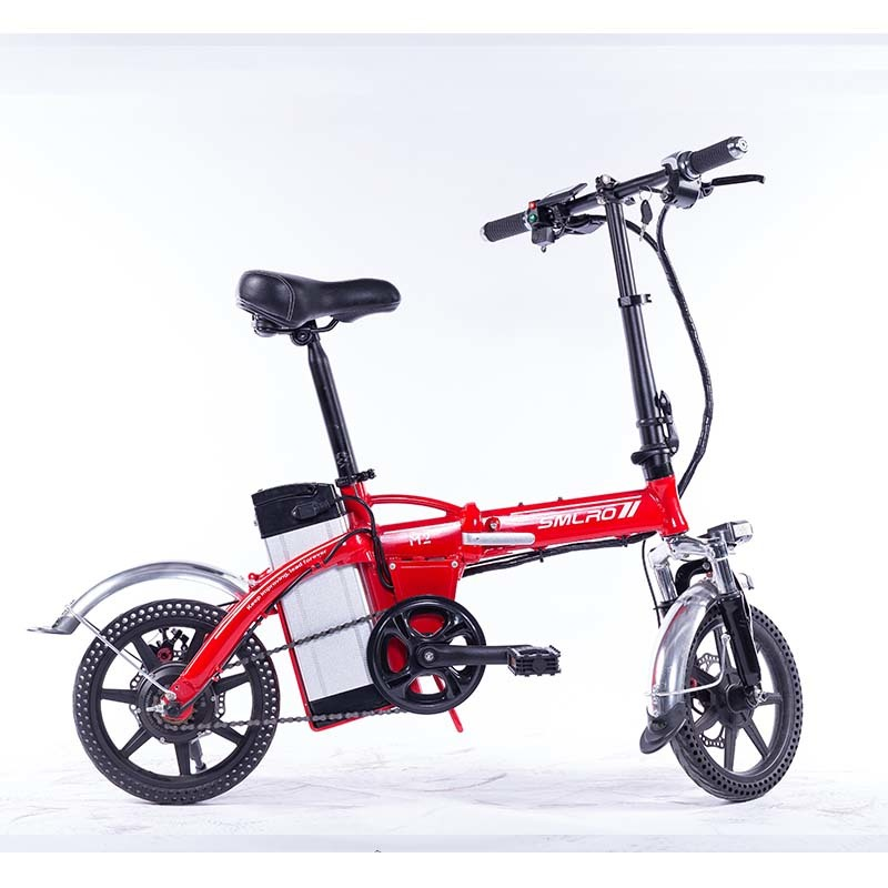 M2 Folding Electric Bicycle 48V Lightweight E-Bike Mini Electric Bike Aluminum Alloy Frame Foldable Ebike with Removable Battery 5