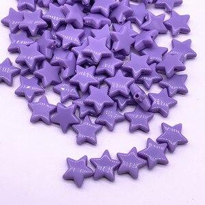 50 шт. 14 мм Красочные граненые пятиконечные звезды акриловые Свободные разделительные бусины аксессуары