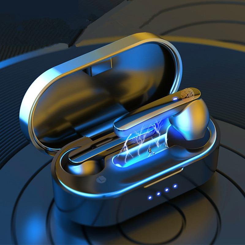 TWS Bluetooth V5.0 наушники мини беспроводные наушники Touch HIFI Спортивная гарнитура шумоподавление с двойным микрофоном для всех телефонов