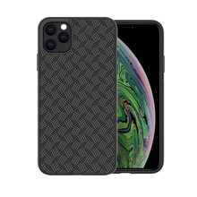 Luxury Shockproof Ultra Slim Back Cover For iPhone 11 XI 2019 NILLKIN Plaid Synthetic Fiber Phone Case Fundas Protector Shell
