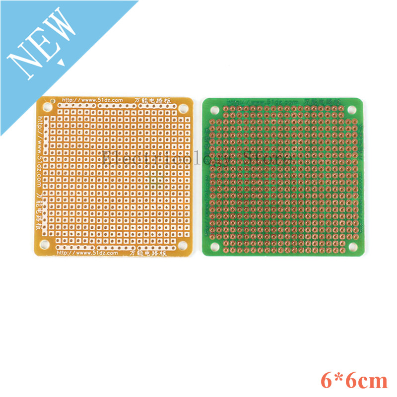 5pcs 6*6cm Circuit Board DIY Prototype Paper PCB Universal Circuit Board Solderless Breadboard Bakelite Plate 6x6cm 6*6 6X6 CM