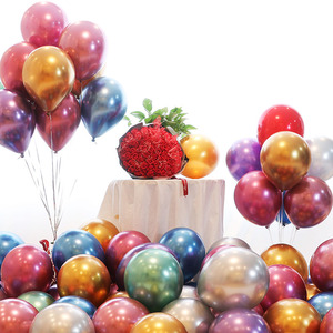 Image 3 - 10pcs Metal Pearl Latex Balloons Birthday Party Decoration Kids Wedding Baby Shower DIY Bachelorette Table Supplies Boy Girl