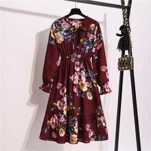 Милое женское элегантное шифоновое платье миди с воротником
