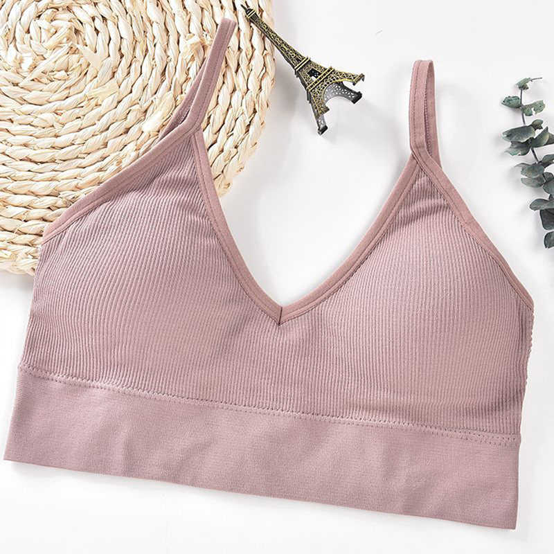 Women/'s Sports Bra Wireless Padded Front Zip Push Up Yoga Cami Vest Support Tops