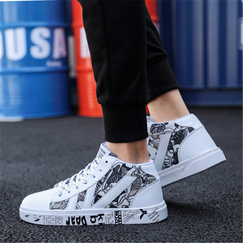 Shoes Wild-Print High-Top Comfort Breathable Casual New-Fashion Small
