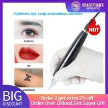 Перманентный макияж машина ротационная Татуировка пистолет ручка брови губы тату машина приспособления для ручки набор аксессуаров для татуировки