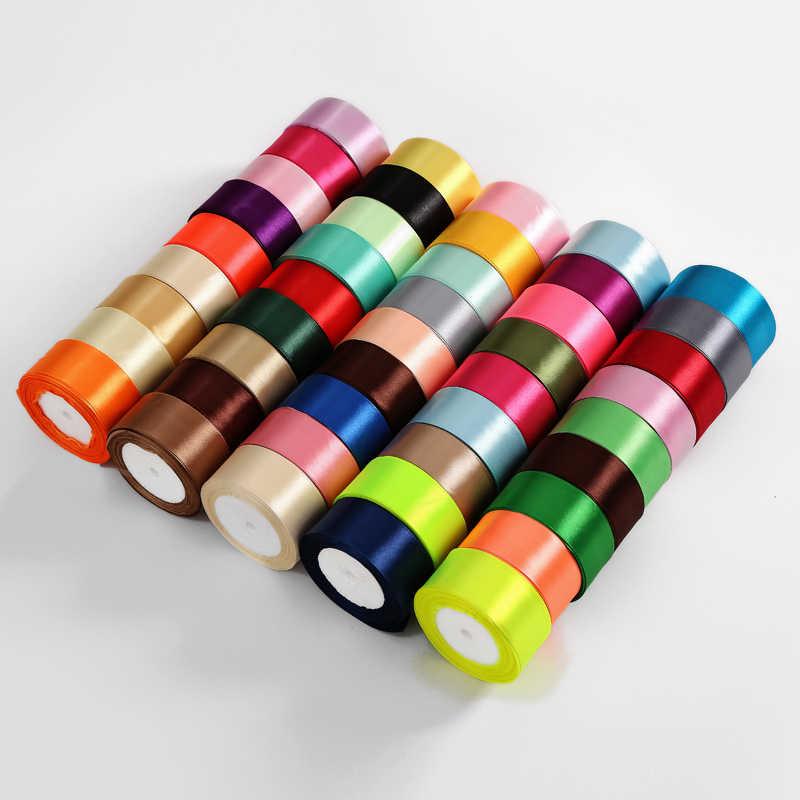 25Yards/Roll Silk Satin Bänder für Handwerk Bogen Handmade DIY Geschenk Wrap Hochzeit Party Dekorative 0,6 cm 1cm 1,5 cm 2cm 2,5 cm 4cm 5cm
