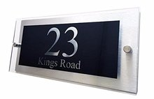 Customised Designer House Number Plaque 300x140mm
