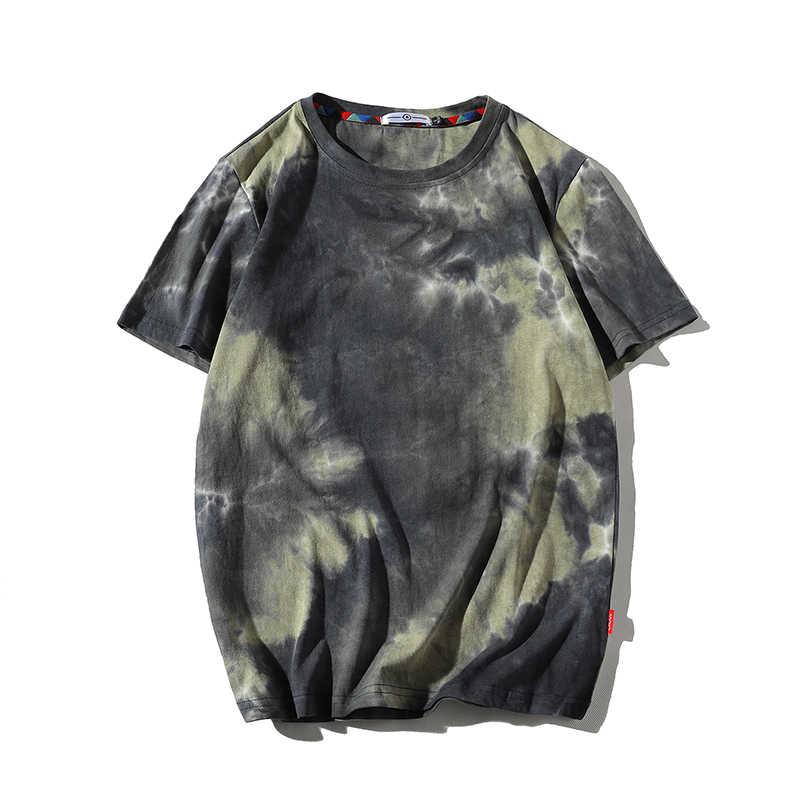 Gli uomini 2020 di Estate New Hot Hip Hop Streetwear Moda T-Shirt Magliette E Camicette Magliette Uomini Casual Tie-Dye O-Collo di Marca Breve manicotto T-Shirt Da Uomo