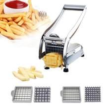 Chips faisant la Machine trancheuse de coupeur de pomme de terre de friture d'acier inoxydable avec 2 lames pour la découpeuse en métal de carotte de légumes