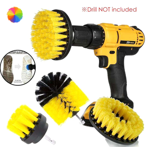 3Pcs/set Electric Drill Brush Power Scrubber Cleaning Brush Tub Cleaner Tool Scrubber Washing Brush Household Cleaning ToolsCY