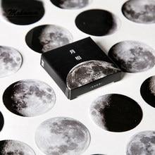 45 pçs/caixa bonito criativo lua mini papel adesivo decoração diy ablum diário scrapbooking etiqueta de papelaria material escolar