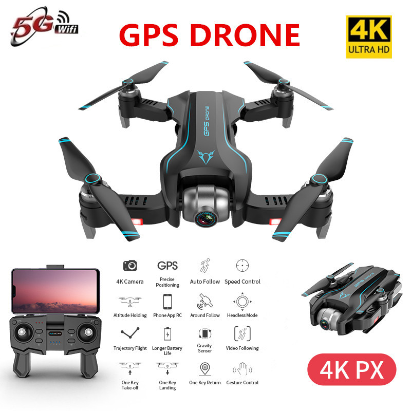 S20 GPS Drone with 4K HD Adjustment Camera X50 ZOOM 500m 5G WIFI FPV RC Quadcopter Professional Foldable Drones E520S E58