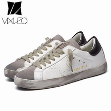 2020 New All-Match Running Unisex Trend Golden Dirty Old Korean Version Stars White Flat ShoesLarge Size 36-44(China)